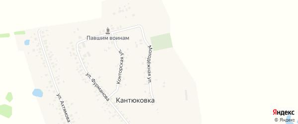 Молодежная улица на карте деревни Кантюковки с номерами домов