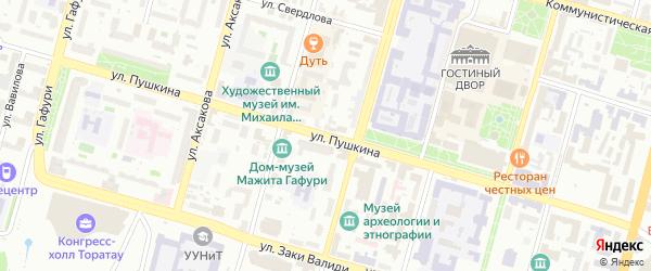 Улица Пушкина на карте Уфы с номерами домов