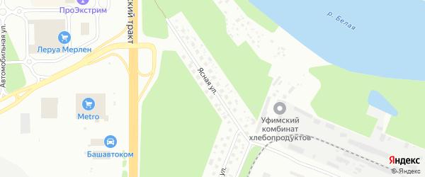 Ясная улица на карте Уфы с номерами домов