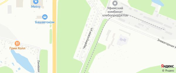 Черемуховая улица на карте Уфы с номерами домов