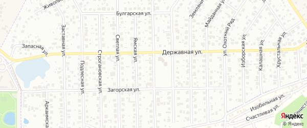 Рубиновая улица на карте Уфы с номерами домов