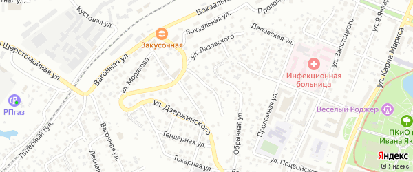 Яровая улица на карте Уфы с номерами домов
