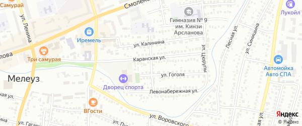 Улица Спартака на карте Мелеуза с номерами домов