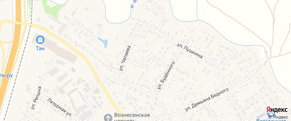 Переулок Чапаева на карте села Чесноковки с номерами домов