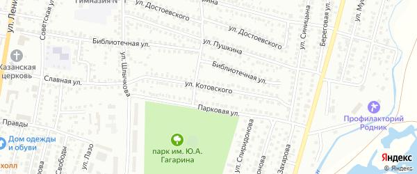Улица Котовского на карте Мелеуза с номерами домов
