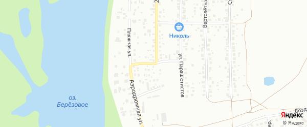 Аэродромная 2-я улица на карте Уфы с номерами домов