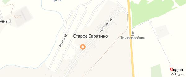 Уфимская улица на карте села Старое Барятино с номерами домов