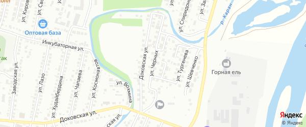 Улица Черных на карте Мелеуза с номерами домов