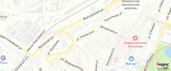 Улица Лазовского на карте Уфы с номерами домов