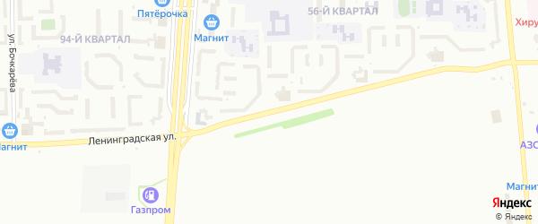 Ленинградская улица на карте Салавата с номерами домов
