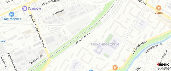 Улица Сазонова на карте Стерлитамака с номерами домов