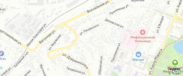 Малая Вокзальная улица на карте Уфы с номерами домов