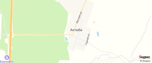 Карта деревни Актюбы в Башкортостане с улицами и номерами домов