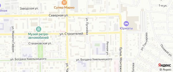 Улица Пугачева на карте Салавата с номерами домов