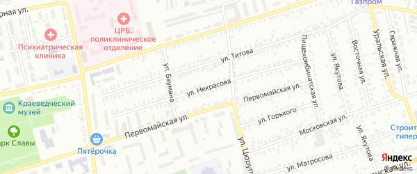 Улица Некрасова на карте Мелеуза с номерами домов