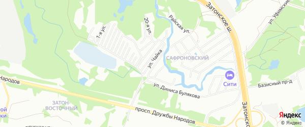СНТ Чайка на карте Уфимского района с номерами домов