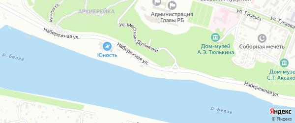 Набережная Влюбленных на карте Уфы с номерами домов