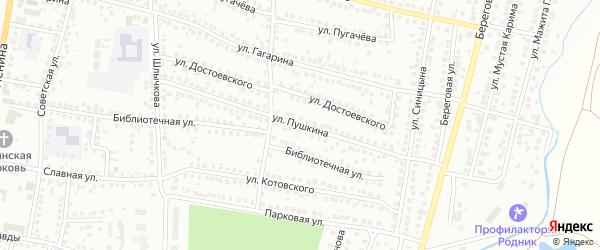 Улица Пушкина на карте Мелеуза с номерами домов