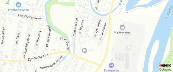 Переулок Черных на карте Мелеуза с номерами домов