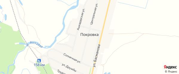 Карта деревни Покровки в Башкортостане с улицами и номерами домов