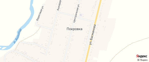 Улица Мишенёва на карте села Покровки с номерами домов