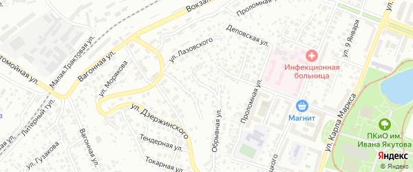 Малая Обрывная улица на карте Уфы с номерами домов