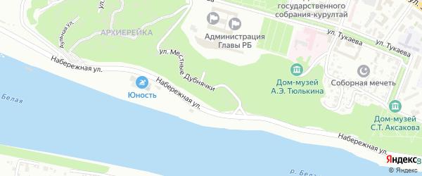 Улица Кропоткина на карте Уфы с номерами домов