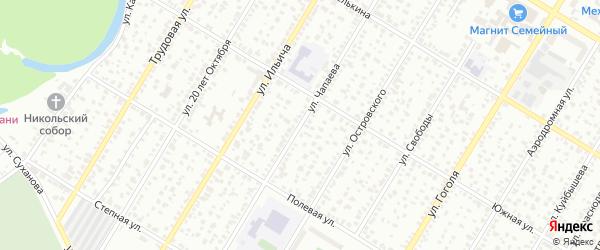 Улица Чапаева на карте Стерлитамака с номерами домов