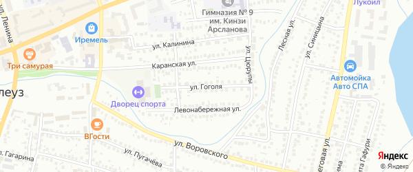 Улица Гоголя на карте Мелеуза с номерами домов