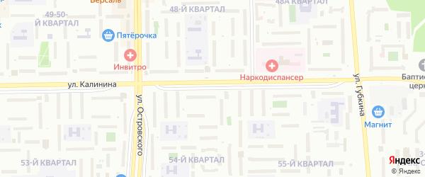 Улица Калинина на карте Салавата с номерами домов