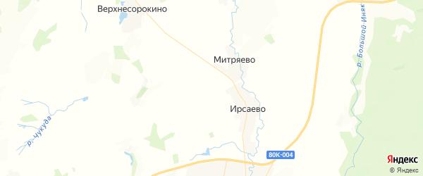 Карта Староарзаматовского сельсовета республики Башкортостан с районами, улицами и номерами домов