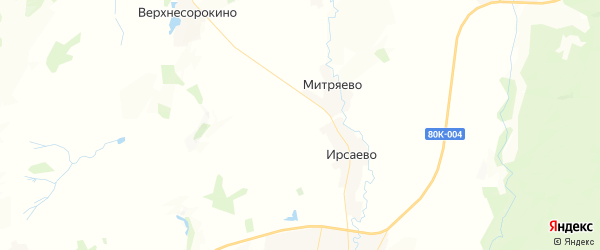 Карта Кайраковского сельсовета республики Башкортостан с районами, улицами и номерами домов