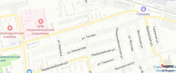 Улица Титова на карте Мелеуза с номерами домов