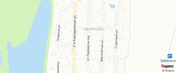 Улица Парашютистов на карте Уфы с номерами домов