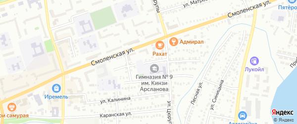 Кавказская улица на карте Мелеуза с номерами домов