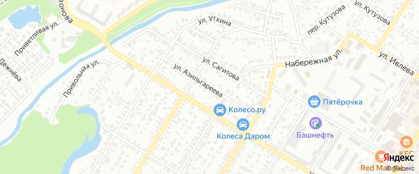 Улица Азильгареева на карте Стерлитамака с номерами домов