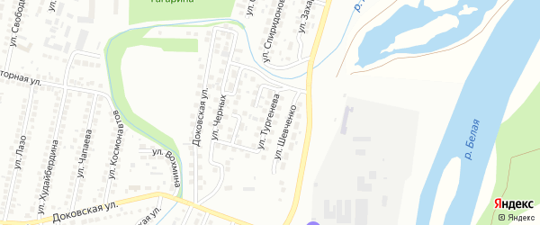 Улица Тургенева на карте Мелеуза с номерами домов