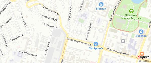 Бондарная улица на карте Уфы с номерами домов