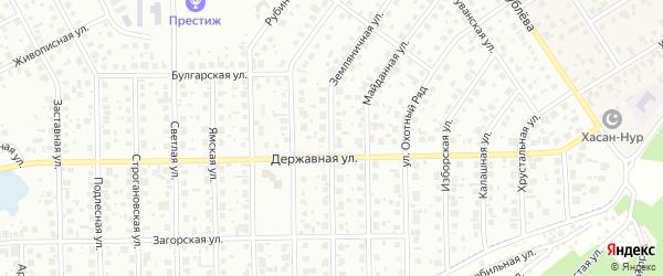 Земляничная улица на карте Уфы с номерами домов