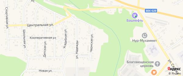 Чернская улица на карте Благовещенска с номерами домов