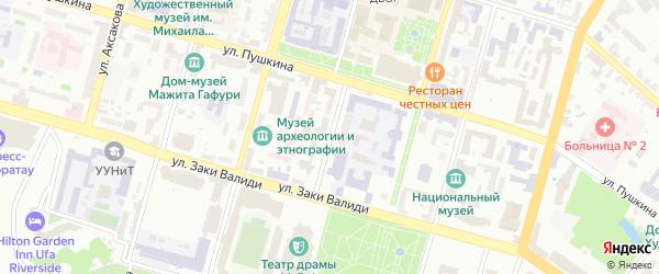 Театральная улица на карте Уфы с номерами домов