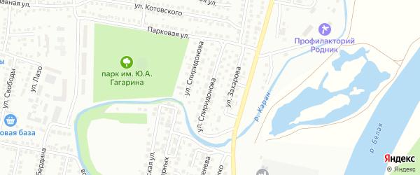 Улица Спиридонова на карте Мелеуза с номерами домов