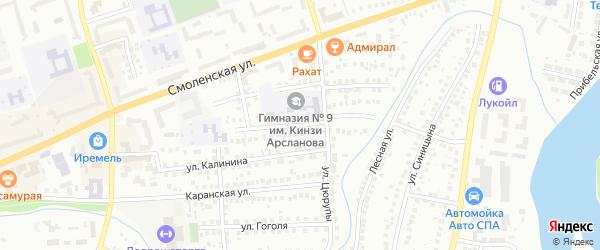 Костромская улица на карте Мелеуза с номерами домов