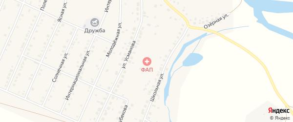 Улица Николая Хлопотина на карте деревни Тамьяна с номерами домов