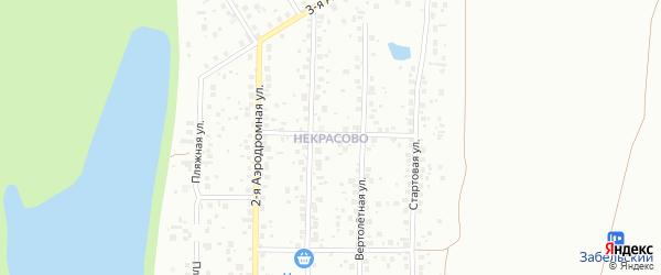 16-й квартал на карте поселка Некрасово с номерами домов