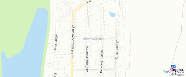 19-й квартал на карте поселка Некрасово с номерами домов