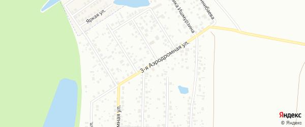 Аэродромная 3-я улица на карте Уфы с номерами домов