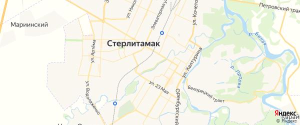 Карта Михайловского сельсовета республики Башкортостан с районами, улицами и номерами домов