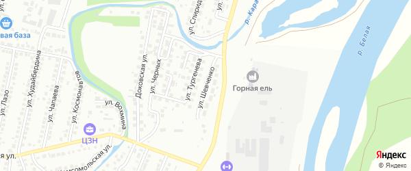 Улица Шевченко на карте Мелеуза с номерами домов