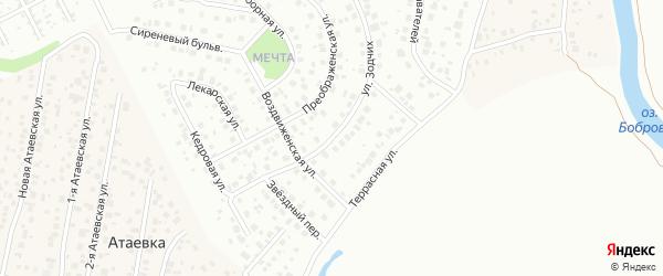 Улица Зодчих на карте Уфы с номерами домов